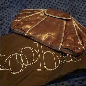 Kooba Brown Leather Large Clutch. Like NEW!